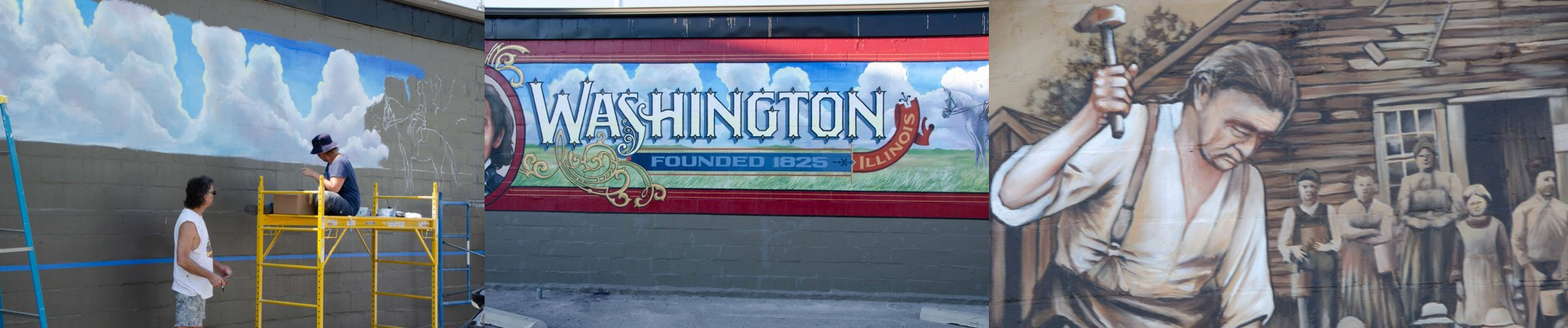 The Washington Historical Society thanks our members and the entire community for their support of the Walldogs mural, completed July 13!